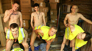 Warehouse Raw Fucking Twinks Can't Stop - Aaron Aurora, Aiden Jason & Skye Romeo