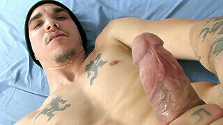 Draining His Big Uncut Cock - Cherokee